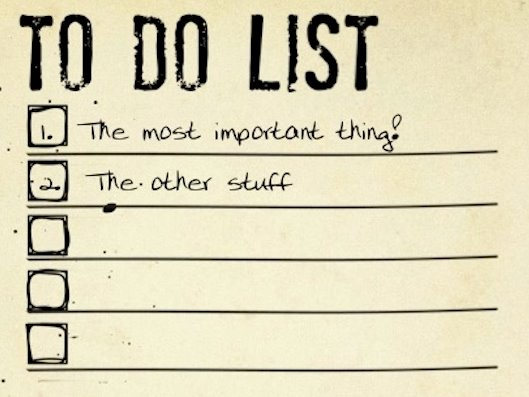 most important things first