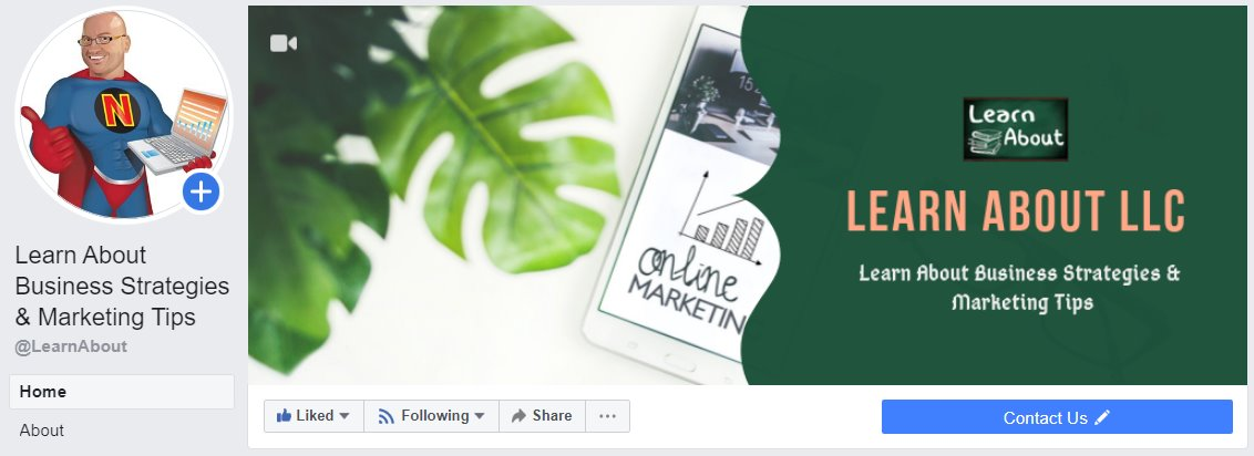 facebook page for llc