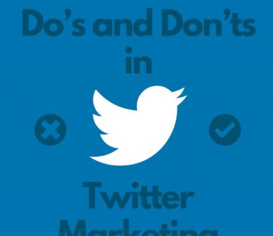 Dos and donts in twitter marketing