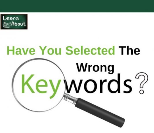 have you selected the wrng keyword