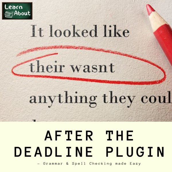 After the Deadline Plugin - Grammar & Spell Checking made Eazy