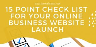15 Point Check List for Your Online Business Website Launch