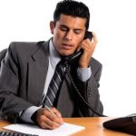 follow up with a telephone call