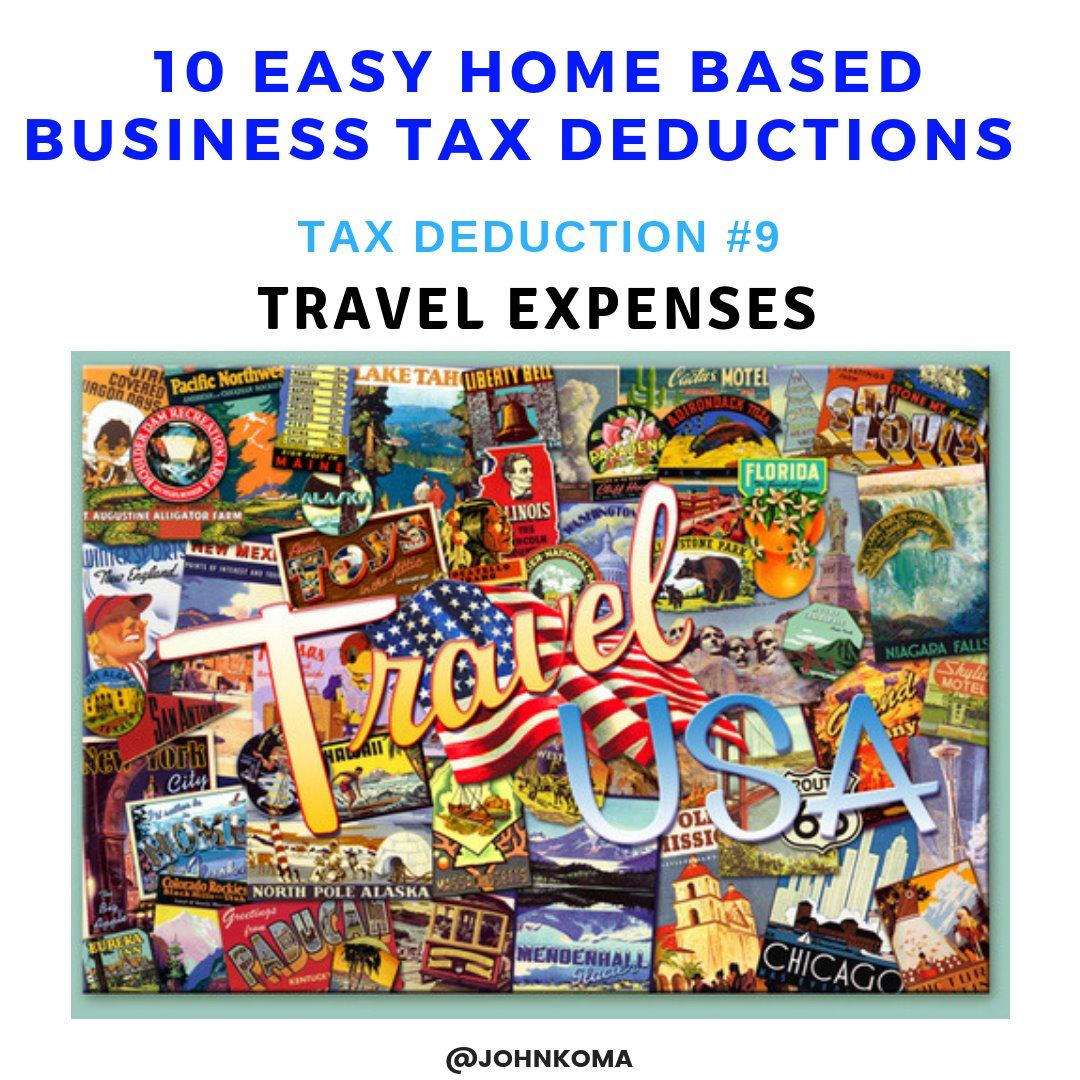 tax deductions for a home based business -Travel Expeenses