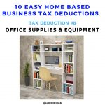 how to calculate business tax deductions -office supplies and equipments